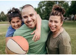 Happy Family with Ball