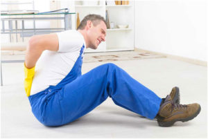 Worker with Hurt Back